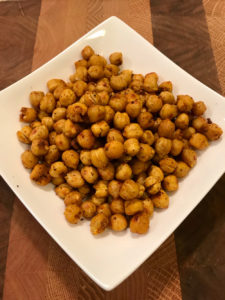 Use roasted chickpeas as part of your healthy snacks