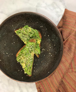 Avocado toast is a tasty snack with healthy fat