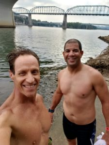 Don and Mike after their swim in the Chattanooga River
