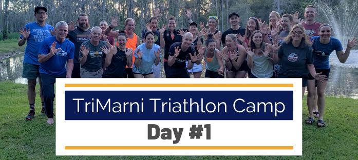 Photo of happy TriMarni triathlon campers