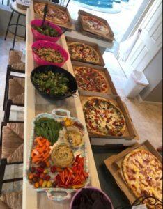 Triathlon camp pizza party!