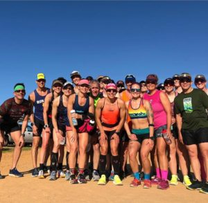 Trimarni triathletes after running the Clermont clay trial