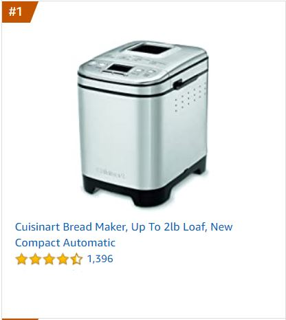 Cuisinart Bread Maker - Athlete Kitchen gifts, gadgets and tools for a plant-based kitchen